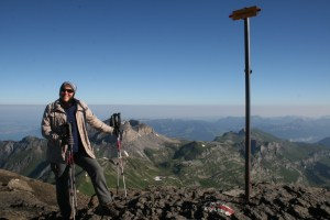 Climbing down the Schilthorn in Switzerland