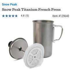 Travel Favorite French Press