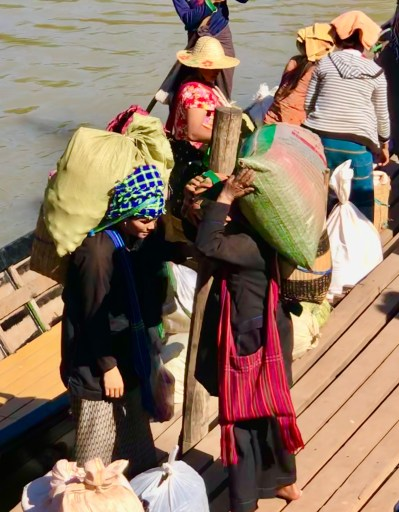 Transporting goods Inle Lake
