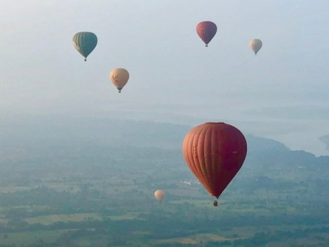 Balloons over Bagan Myanmar