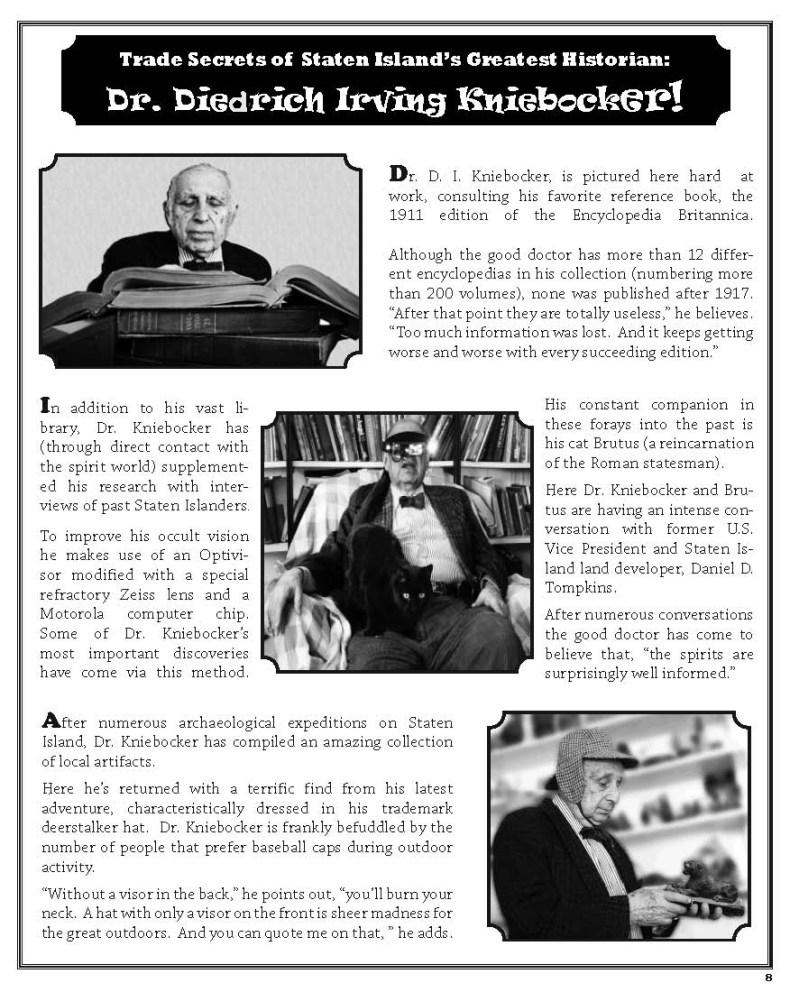 Trade Secrets of Staten Island's Greatest Historian!!OneSheet-D copy