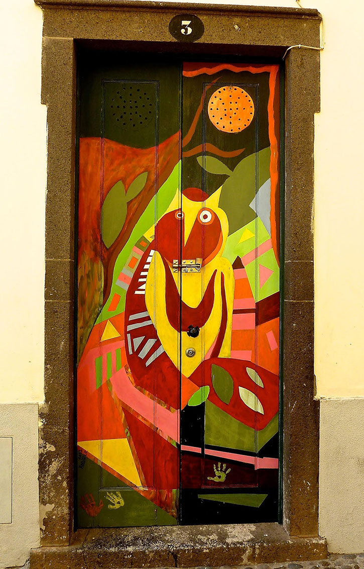 Door Art at Rua de Saint Maria