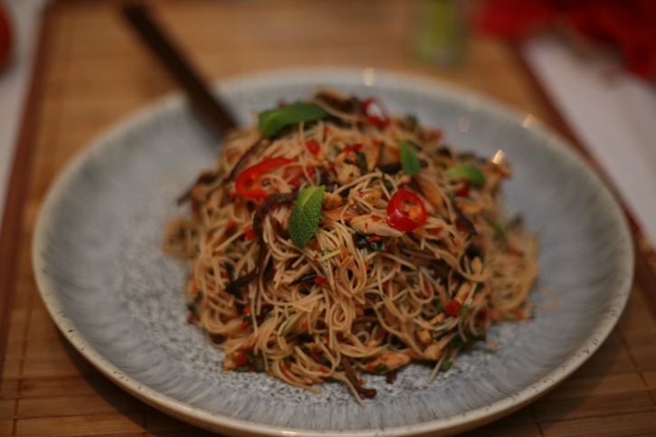 Kerabu Bee Hoon (Perenakan Rice Vermicelli Noodles) served at Guan's Peranakan Food Supper Club