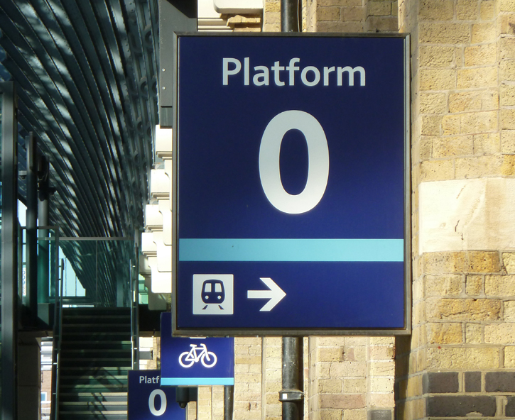 Platform 0 at Kings Cross Station