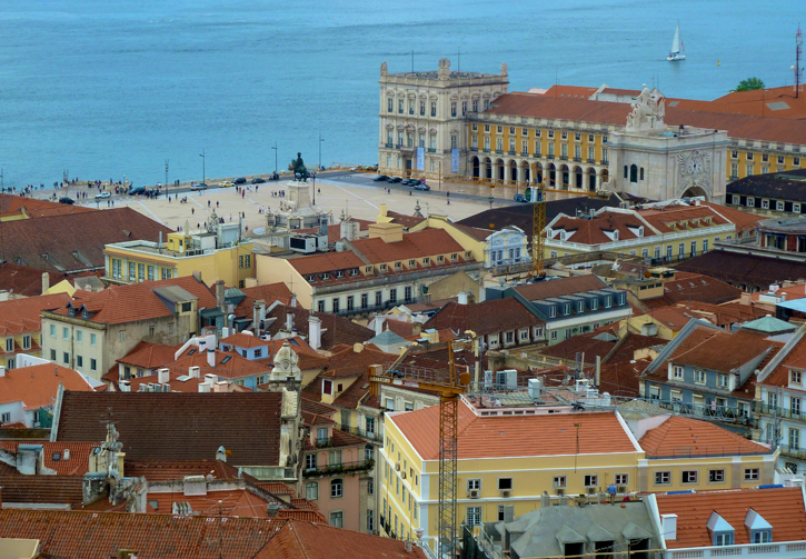 A view of the Lisbon's Commerce Square from the Castle of St George.