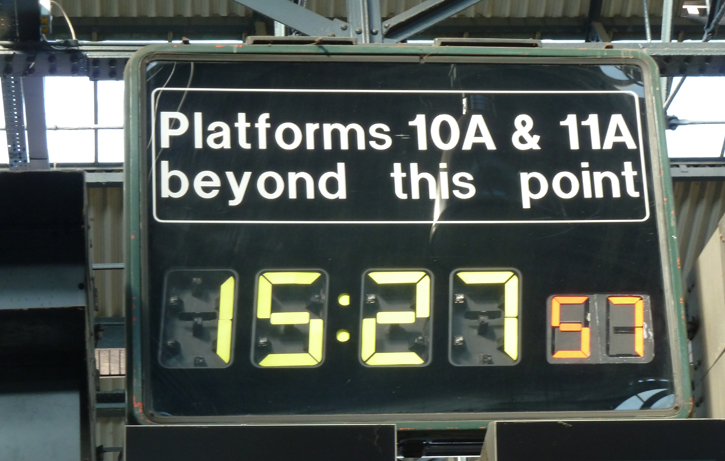 Platform 10a and 11a in Kings Cross Station