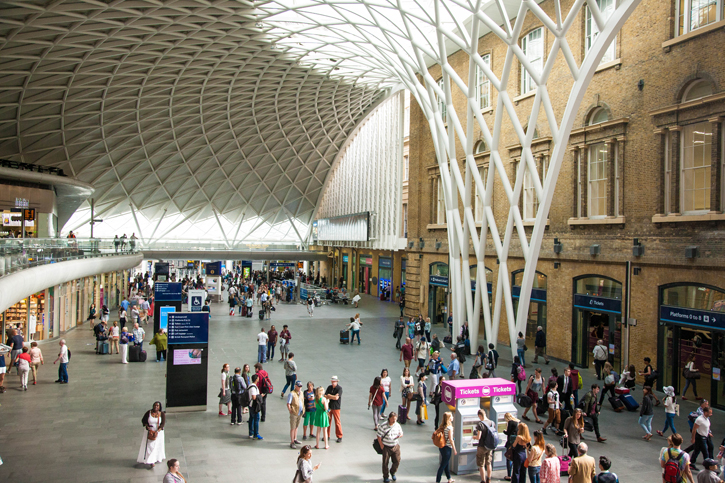 The Interior of the Western Concourse of Kings Cross Station – note the wide open spaces for the passengers.