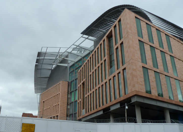 The Francis Crick Institute adjacent to Kings Cross Station