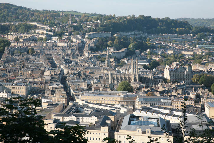 View of Bath City from Alexandra Park