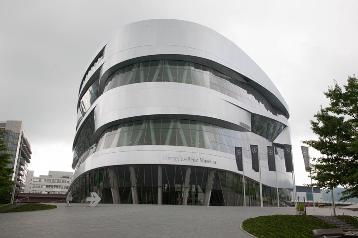 The Mercedes Benz Museum is just outside main Daimler Benz site. The Museum has the 125 years of automobile history. This is the business that laid the foundation of the motorisation of the transport systems of the world. From the humble origins of Gottlieb Daimler and Karl Benz in 1880s to the 21st Century. Also, the story of the evolution of one of the most famous logo of this current age. There is a heavy emphasis on motor sport as this was used to gain publicity and a reputation for the brands.