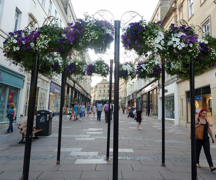 Flowers in Bath City Centre.