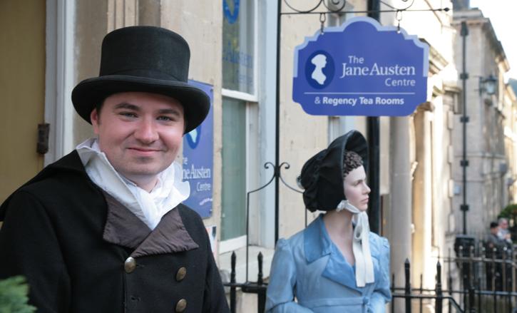 Entrance to The Jane Austen Centre
