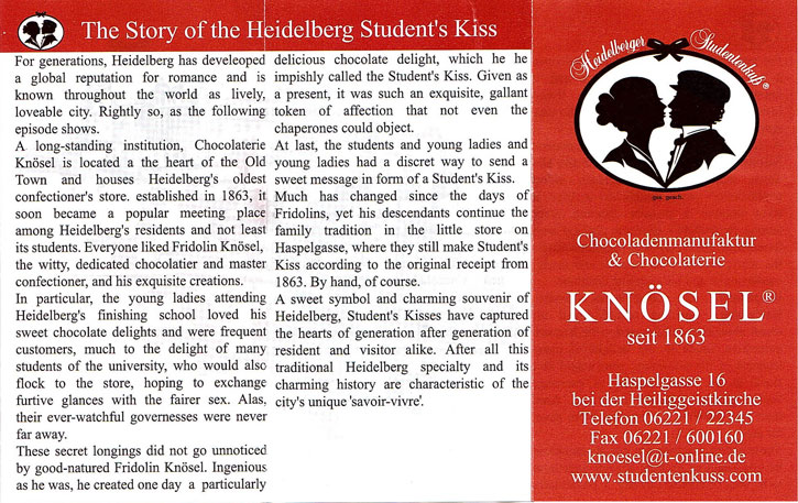 The Story of the Student Kiss in their own very words.