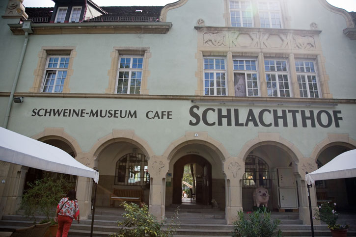 The Entrance to the Pig Museum and Café.