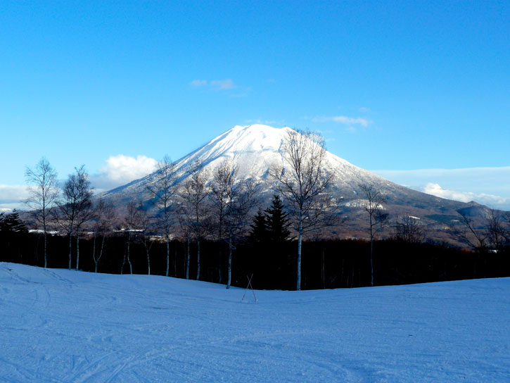 Mt Yotei from the Niseko Village on a clear day
