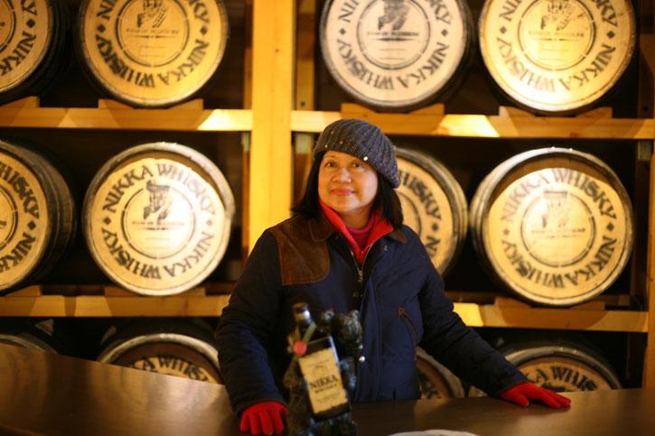 Helen in the Nikka Whisky Distillary