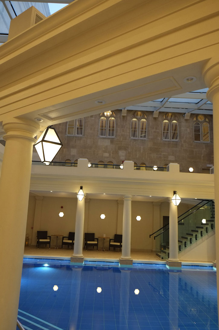 View of the main pool of the Gainsborough Bath Spa.