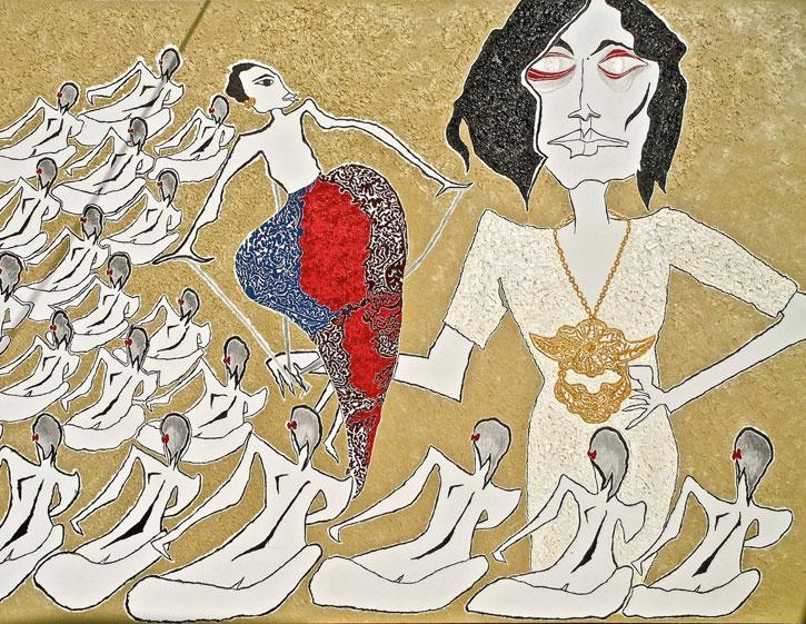 Dalang Tuk Dalang – A Painting by Anisa Mandahiling