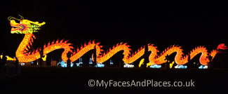 Magical Lantern Festival - The Chinese Dragon - the symbol of the Chinese.