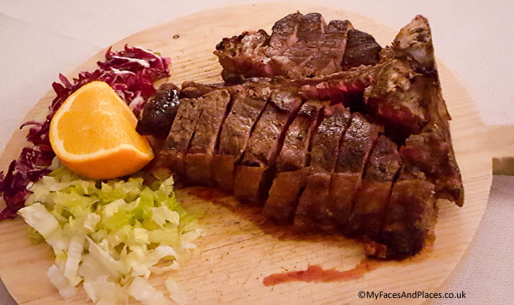 The Florentine Steak (Osteria della Pagliazza at the Hotel Brunelleschi)
