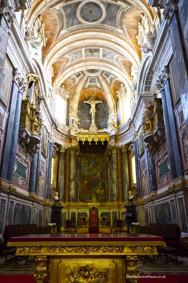 The Glorious Main Alter of Evora Cathedral. Evora is the capital of Alentejo.