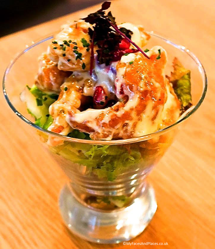Popcorn shrimp with a crunchy batter served in Chi Kitchen at Debenhams.