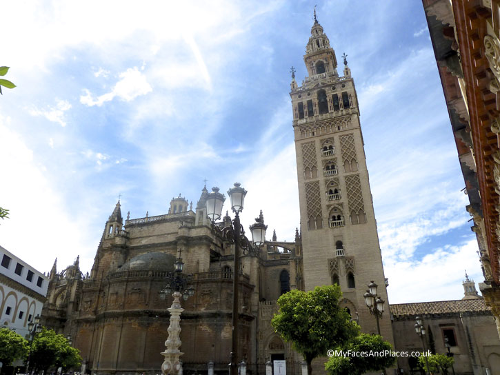 The Giralda Bell Tower of Seville Cathedral.