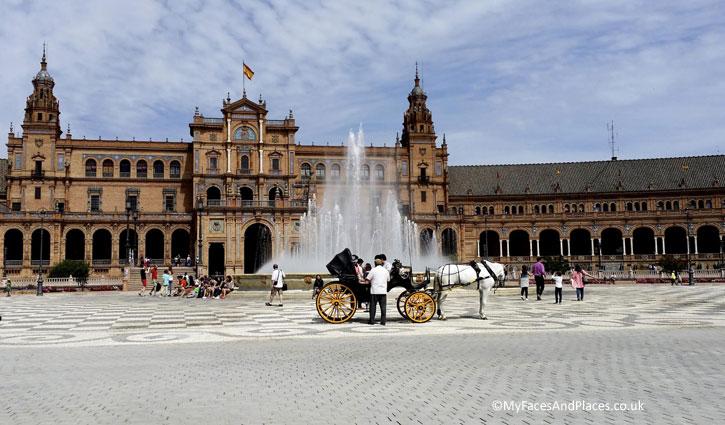 Plaza de Espana in Seville.