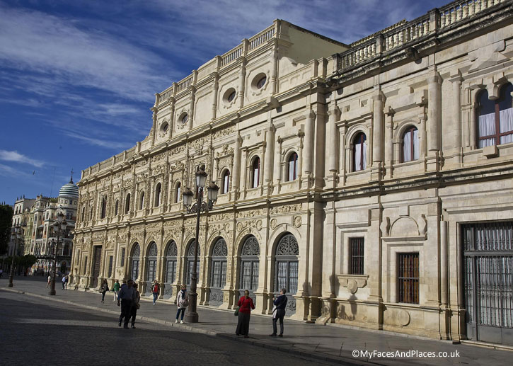 The magnificent building of the Seville Town Hall.