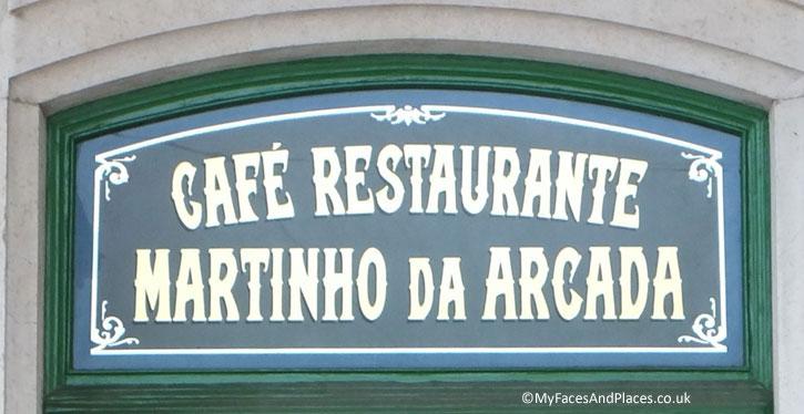 Martinho da Arcada - Lisbon's oldest Restaurant