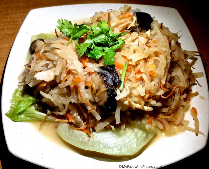 Hainanese Delights Restaurant - Shredded dried cuttle fish with yam bean and vegetables