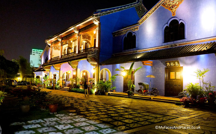 The Blue Mansion or Cheong Fatt Tze Mansion (https://myfacesandplaces.co.uk/blue-mansion-feng-shui/): winner of the year 2000 Most Excellent Project – UNESCO Asia-Pacific Awards for Cultural Heritage Conservation. The Mansion is a hotel and high-end Chinese restaurant (http://www.cheongfatttzemansion.com/) and there are daily tours.