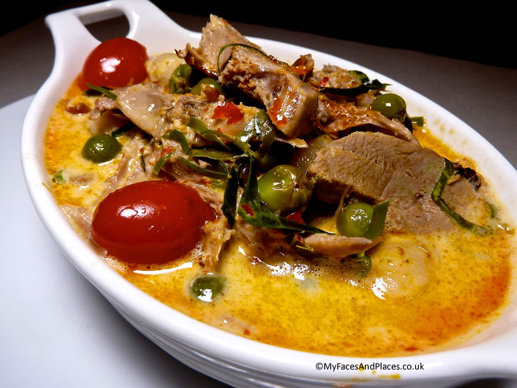 A heavenly dish of lychee roast duck red curry.