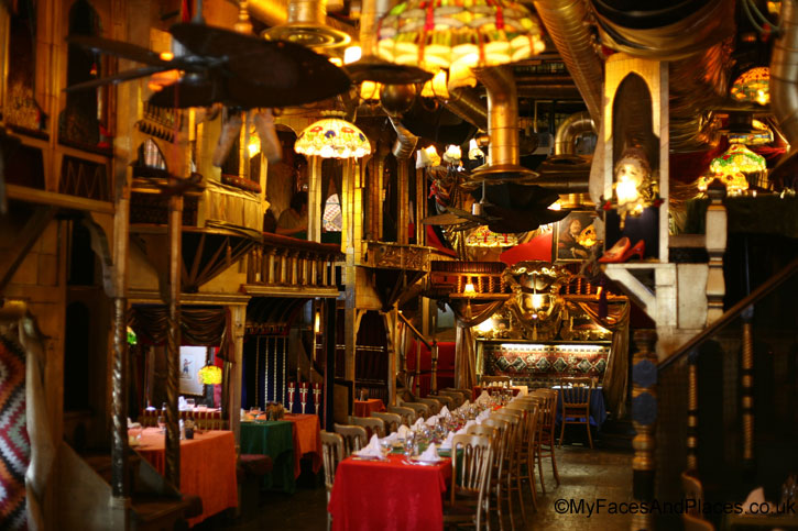 Enter the flamboyant and opulent theatrical setting of Sarastro - Sarastro Restaurant