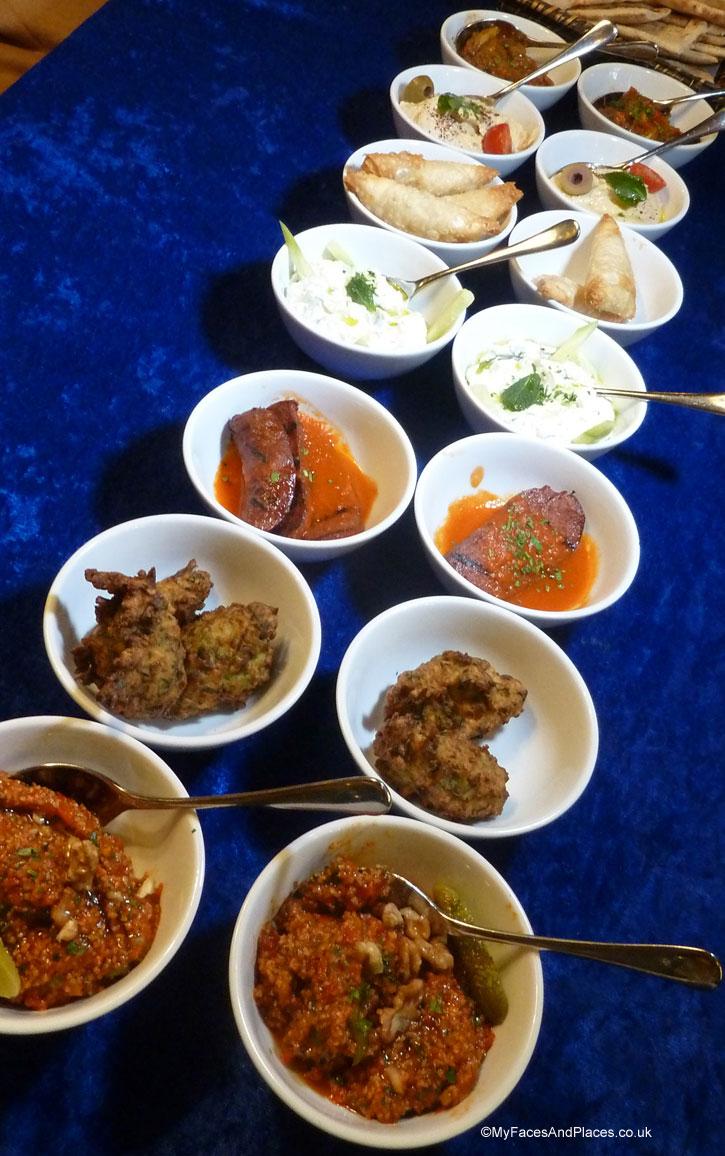A medley of delicious mezze - sarastro restaurant