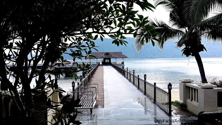 The jetty at Pangkor Laut – a step into paradise