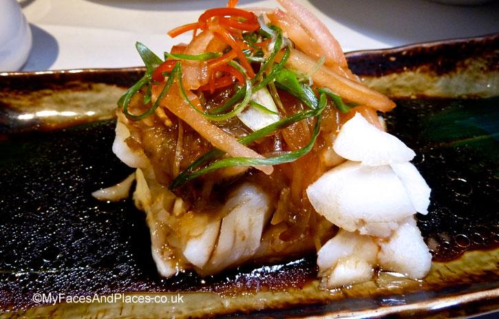 Chao Zhou Teochew style steamed black cod in Chai Wu @ Harrods.