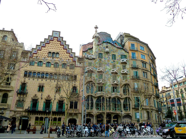 Exquisite examples of modernist architecture by Gaudi and other architects in Barcelona, Spain