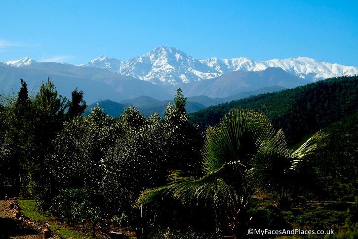 The breath-taking vista of the High Atlas Mountain