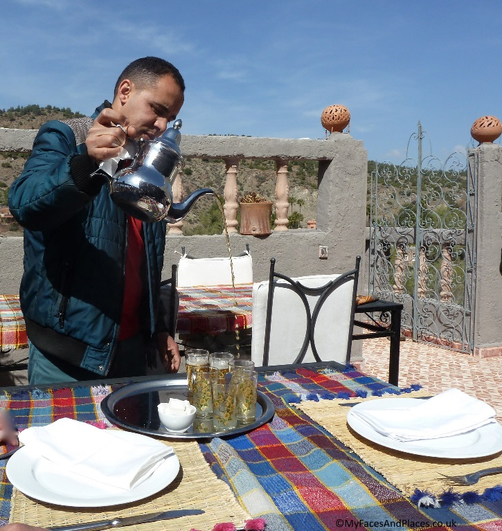 "Our guide pouring mint tea known locally as "" Berber Whisky"" in a Moroccan style"