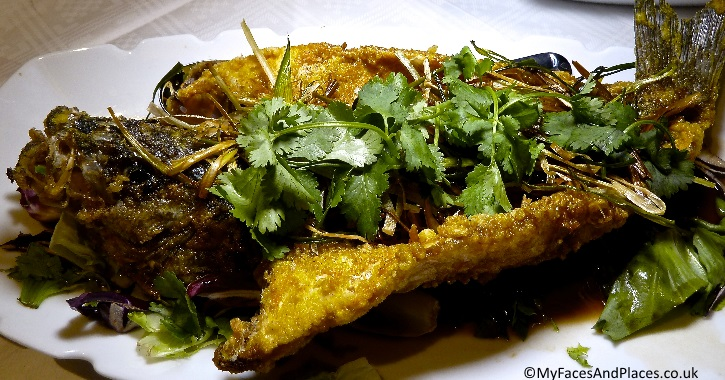 Fried Sea Bass with Soya Sauce