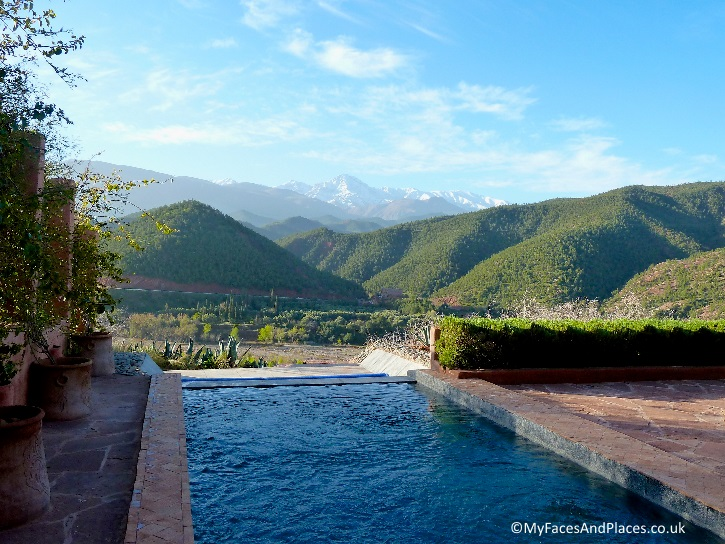 View from the Pool Suite at Kasbah Bab Ourika