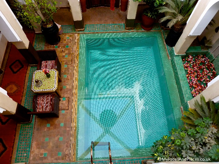 The fabulous plunge pool makes the centre piece of the Riad Hikaya