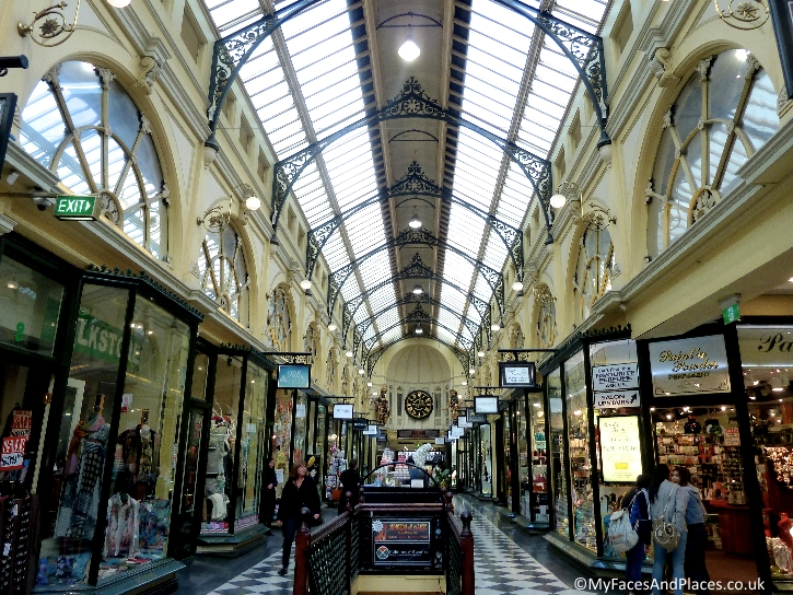 Victorian style shopping arcades are part of the city's charm