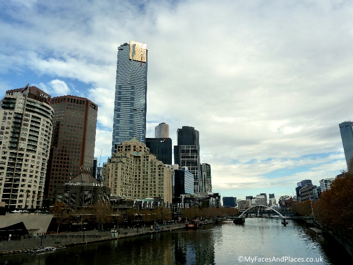 Eureka Tower on Southbank the modern district of Melbourne