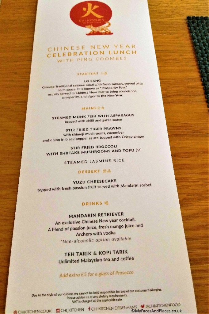 The celebratory menu - Chinese New Year at Chi Kitchen