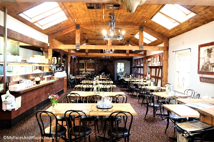 The rustic restaurant at Hahndorf Inn serves authentic Bavarian fare