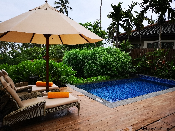 Our Garden Pool Villa surrounded by lovely lush vegetation
