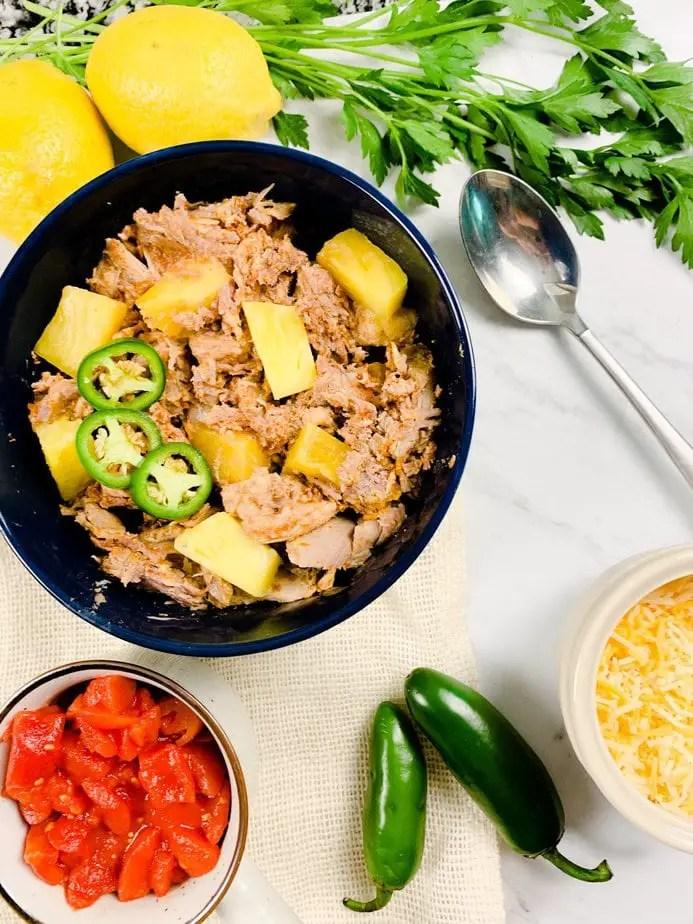 Slow Cooker Pork Enchiladas | Pulled Pork Enchiladas | Leftover Pork Shoulder | Pineapple Pulled Pork | Shredded Pork Enchiladas Slow Cooker | Slow Cooker Pork Enchilada Casserole | Authentic Pork Enchiladas