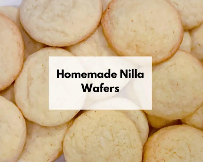 Homemade Nilla Wafer